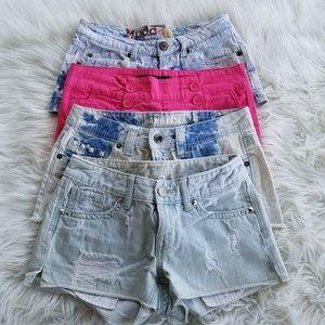 Festival jean shorts bundle size 0-1